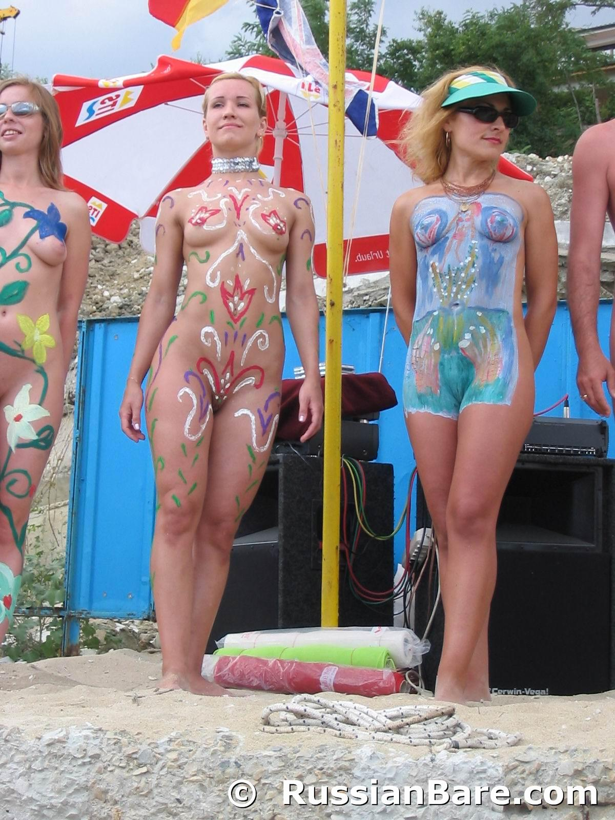 Confirm. All nudist beach family body painting girls