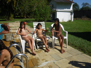 Nudist Girls Birthday Party