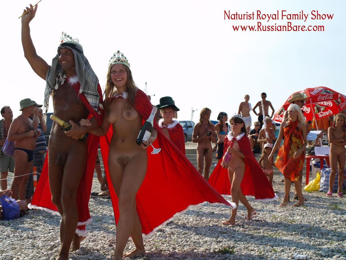 Russian bare nude family