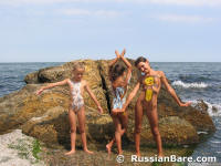 Russian bare nudist